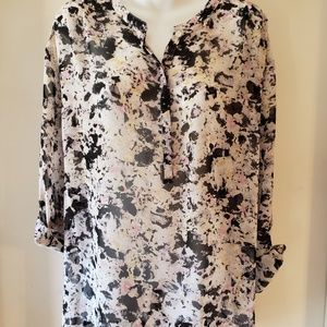 Ladies sheer dress shirt